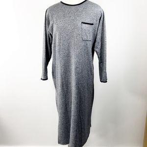 Jones New York Grey Pocket Sweater Like Dress